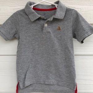 Gap Gray Polo Style Short Sleeve Top